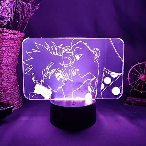 Lampada da tavolo da toeletta da notte Silhouette 3D otaku per vaso di famiglia, tavolo da pranzo,...