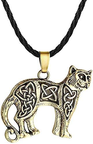 Zaaqio Collar Indio joyería Leopardo Animal Colgante Vintage Hombres Collar Original Gargantilla niños Collares Amuleto Gargantilla Regalos