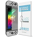 Maxboost Screen Protector Compatible with Nintendo Switch 2017 Only - 2 Pack, Works While Docking Gaming Console Ultra-Thin Enhanced Glass Screen Protector