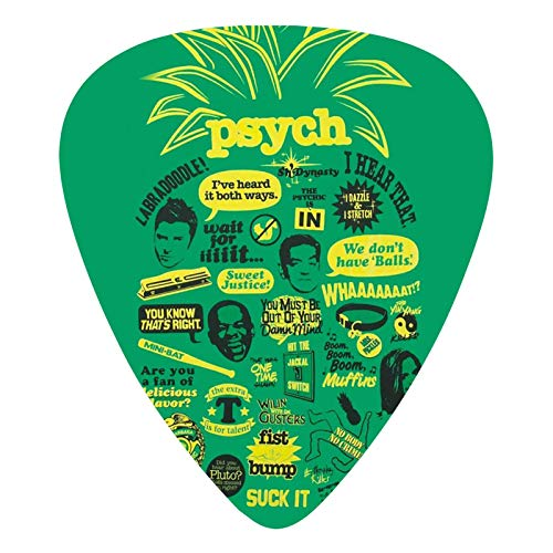 Guitar Picks Cool Psych Pineapple Quote Mash Up Premium Picks Sampler Includes Thin Medium And Heavy Gauge Unique Guitar Gift For Bass Electric Acoustic Guitars (12 Count)