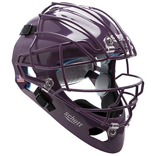 Schutt Unisexs AiR MAXX Hockey Style Catchers Helmet with Facemask Purple One Size