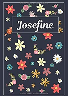 Josefine: Tagebuch Malbuch Notizbuch Journal   120 Seiten   DIN A4   Blanko   Geschenkidee