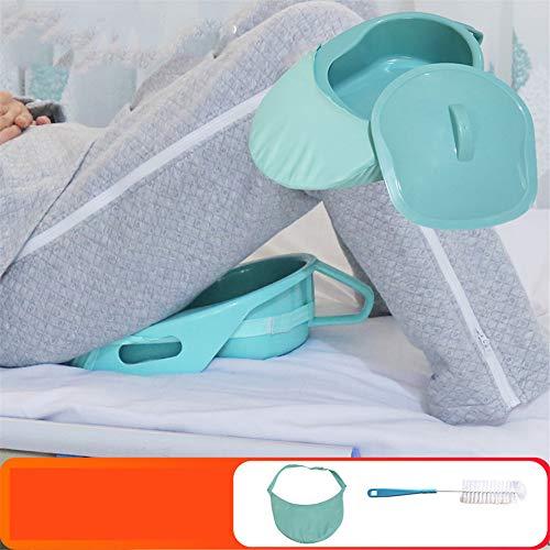 AQzxdc Cuchara de PP Grande, Gruesa y Firme con Tapa y Cepillo, Contorneado Suave para Pacientes paralíticos con incontinencia de Edad Avanzada