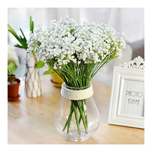 Roovtap 7 Gabeln / 140 Köpfe/künstliche Blumen-Bouquet Simulation Kirsche Gypsophila Pflanze Blume Hochzeit Hauptdekoration Dried Flower (Color : A2)
