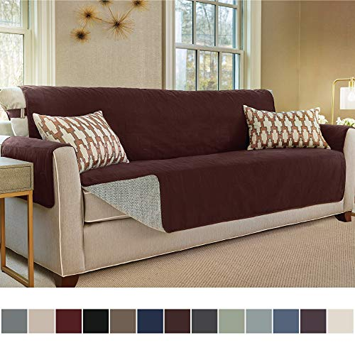 Gorilla Grip Original Slip-Resistant Furniture Protector, Suede-Like Material, Slip Reducing Backing, Perfect for Kids, Dogs, Cats, Pets, Sofa and Couch Protection (Oversize Sofa: Coffee)