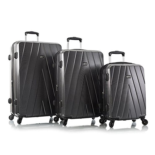 Best Review Of Leo by Heys - Legacy Hard Side Spinner Luggage 3pc Set - 31, 27 & 21.5 (Carbon Fib...