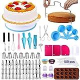 Alpacasso Zubehör zum Dekorieren von Kuchen 238 PCS Kuchen-Dekorations-Kits mit drehbarem...