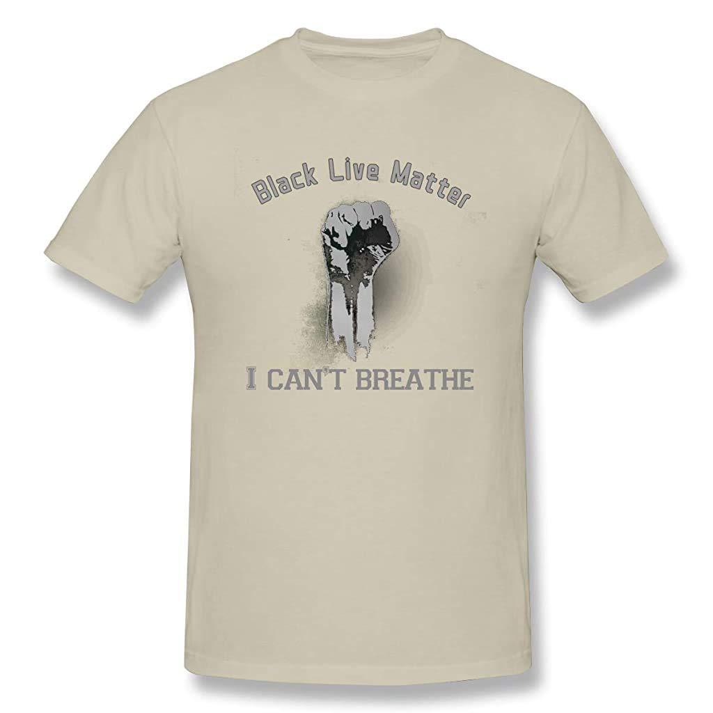 LJJ No Puedo Respirar Camiseta Negra Vidas Materia de Manga Corta T Camisa Camiseta de Hombro 100% algodón es Muy cómoda: Amazon.es: Hogar