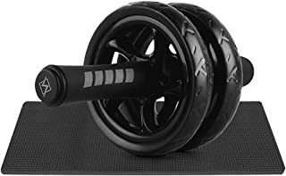 Fitness Wheel, Andoer Quiet Abdominal Roller Wheel with Protective Knee Pad Fitness AB Wheel Abdominal Exercise Roller