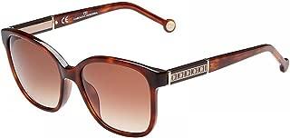 Carolina Herrera Women's SHE595 Rectangular Sunglasses Red 54 mm