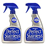 HOPE'S Perfect Stainless Steel Cleaner 22-Ounce, Streak-Free Self-Polishing Formula, Blocks Fingerprints, Pack of 2, 44 Fl Oz