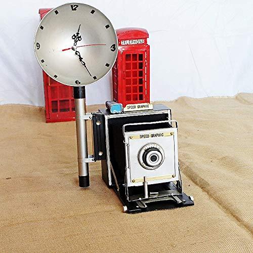 ksjdjok Equipo de configuración clásico Modelo de cámara de Flash Vintage Columpios Accesorios de Tiro Retro 34 X 25.5 X 46 CM A