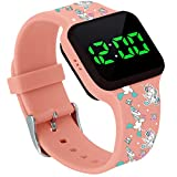 Potty Training Timer Watch with Flashing Lights and Music Tones - Water Resistant, Rechargeable, Unicorn Pattern Colorful Band, Discreet, Smart Sensor, Potty Training Watch