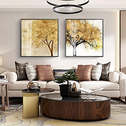 paglutaw Simple Sofá Americano Fondo Pared Pintura Decorativa Sala De Estar Dormitorio Restaurante Colgando Mural 50x75cm Inner_Framed