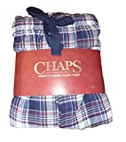 By Chaps Mens Plaid Cotton Flannel Sleep Lounge Pajama Pants (Navy/White/Red/Gray, XX-Large)