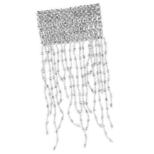 yotijar Pulsera de Flecos de Plástico con Flecos, Bailarina, Borla, Muñeca para Fiesta de Disfraces - plata