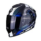 Scorpion Motorradhelm EXO-1400 AIR TORQUE Blue, Schwarz/Blau/Weiss, XL