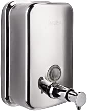 IMEEA 18/10 Stainless Steel Manual Wall-Mount Liquid Soap Dispenser Container (500ml)