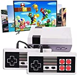HUIYE Retro Game Console with 2 Retro Controllers, Video Game Console Built-in 620 Old School Games, AV Output, Ideal Gift for Kids to Adults, Back to Childhood
