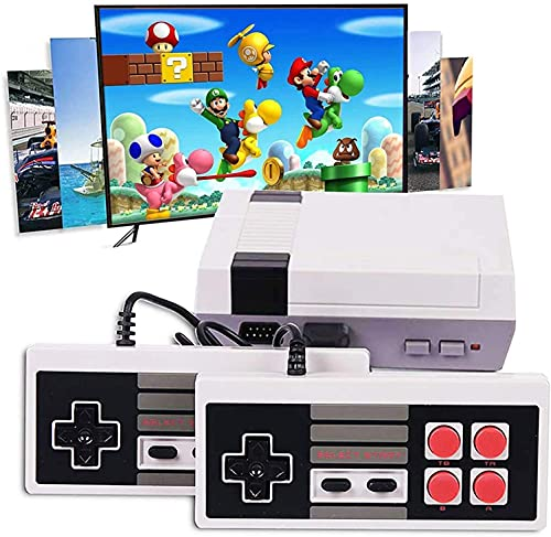 Mini Classic Game Consoles Mini Retro Game Console Built-in 620 Video Games Handheld Game Player 8-Bit Family TV Video Games Console with 2 Controllers AV Output Plug and Play