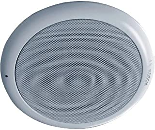 Bosch LC1-WM06E8 Ceiling Loudspeaker with Integrated Circular Metal Grille – Ceiling Speaker for Music and Speech Reproduc...