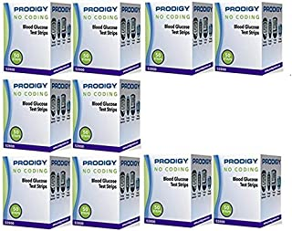 Prodigy No Coding Blood Glucose Test Strips 500 Count