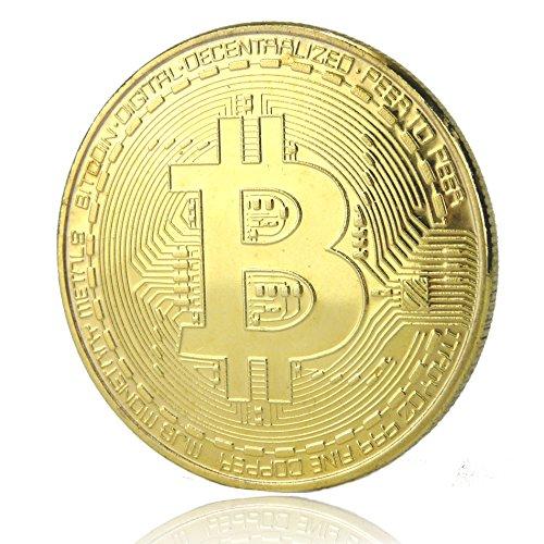 Fa. Wessel Bitcoin Münze vergoldet Sammelmünze mit echt Gold überzogen