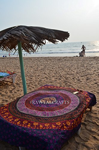 rawyal-multi- Farbige Mandala Wandteppich, indisches Hippie Wandbehang, Bohemian Tagesdecke, Baumwolle, Mandala, als Wohnheim Strand Decke...