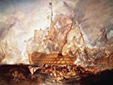 Artland Alte Meister Premium Wandbild Joseph Mallord William Turner Bilder Poster 45 x 60 cm Schlacht bei Trafalgar Kunstdruck Wandposter Romantik B3LR