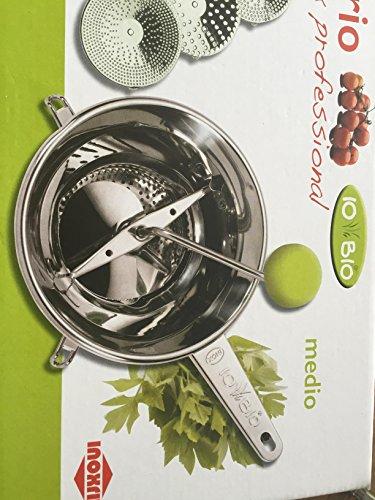 Passapomodoro Passaverdura Manuale Sirio color acciaio inox C47