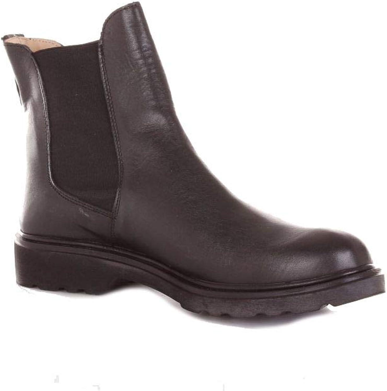 SC svart läder stövlar    Az2300svart läder Ankle stövlar  klassiskt mode