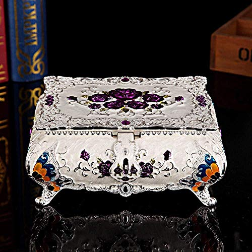 Tangrong Jewelry Storage Box, Koreaanse Prinses Geschilderd nam Kasteel Met Spiegel Storage Box, Desktop Decoratie armband hanger Organiseer Gift Jewelry Storage Box,