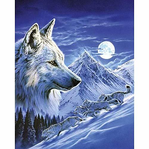 ATggqr 1000 pcs Wooden Jigsaw Puzzles 50x75cm Snow Mountain Wolf Wooden Jigsaw Puzzles Game the bestselling Jigsaw puzzle