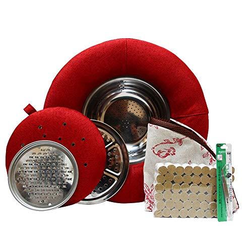 oshidede Moxibustion Futon-Kissen, Multifunktions-Moxibustion-Hocker Zum Sitzen, Tragbares Moxibustion-Kissen Für Den Außenbereich, Durchmesser: 40 cm