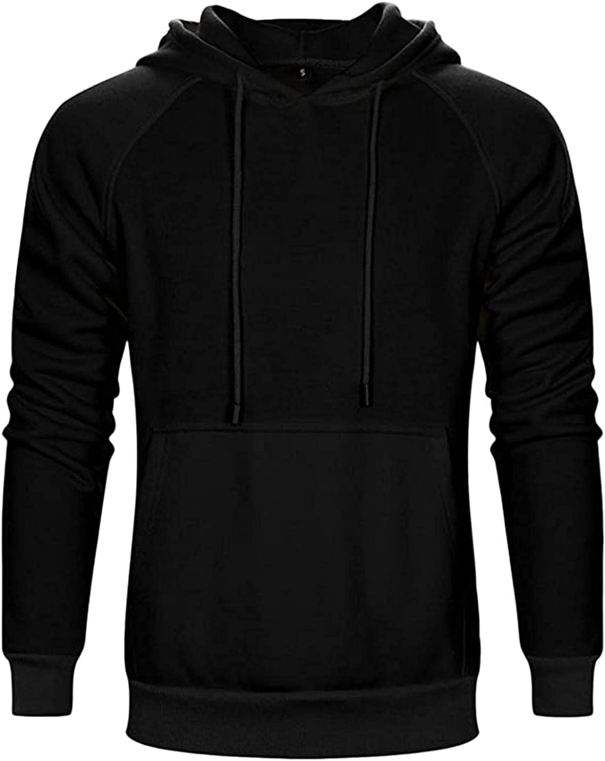 LEIYAN Mens Casual Hoodie Pullover Lightweight Oversized Sweatshirt Active Slim Fit Gym Workout Pullover