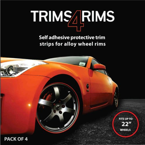 Trims4Rims by Rimblades Felgenschutz Styling Felgenringe Felgenschutzringe Felgenrandaufkleber bis 22 Zoll SCHWARZ BLACK