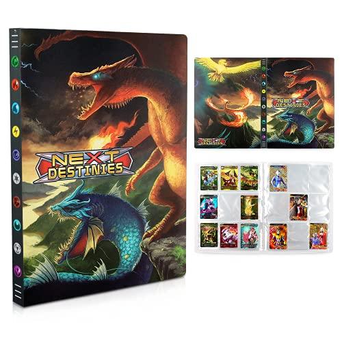 Pokemon Carte Album,Raccoglitore Carte Pokémon,Album Pokemon Cards GX EX Trainer,Album di Carte da Collezione, 24 Pagine -Può Contenere Fino a 432 Carte