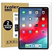 ivoler [2 Pack] Compatible with New iPad Pro 11 inches 2020 / iPad Pro 11 inches 2018 Screen Protector, Tempered Glass Film, [9H Hardness] [Anti-Scratch] [Crystal Clear]