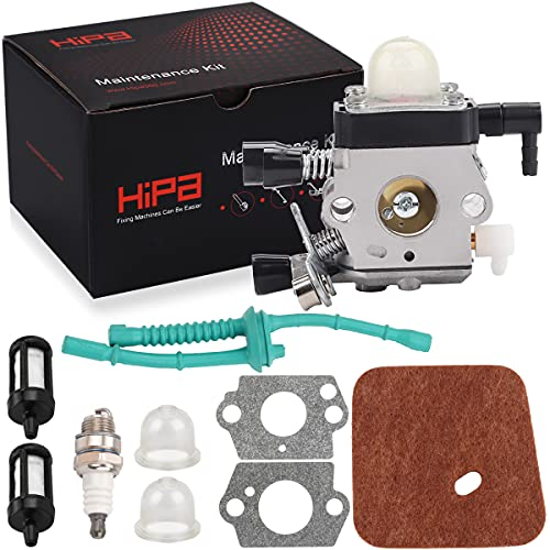Hipa C1Q-S186 Carburetor for STHIL FS45 FS55R FS55 HS45 FC55 FS38 HL45 KM55 FS46 FS46C FS55RC FS45C FS45L FS55C FS55T String Trimmer Weedeater with Air Filter Tune Up Kit