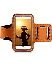 """MyGadget Mobile Phone Sport Armband - Jogging Case Running Armband voor 5.1""""Display Fitness Sport voor bijvoorbeeld Apple iPhone 7/8 6, Samsung Galaxy S7 - Orange"""
