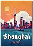 Shanghai China Travel Vintage Art Refrigerator Magnet Size 2.5' x 3.5'