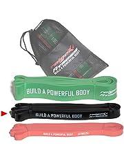 Raigeki fitnessweerstandsbanden, elastieken (+ trainingsplannen), [afzonderlijk en set] lange weerstandsbanden, fitnessbanden voor krachtsport, fitnessband, terrabanden, gymnastiekbanden