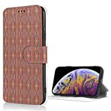 Designed for iPhone Case Traditional Aztec Motifs with Magnetic Clasp and Advanced Zipper with Clip and Bracket