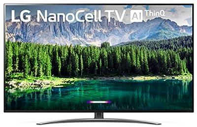 "LG 55SM8600PUA Nano 8 Series 55"" 4K Ultra HD Smart LED NanoCell TV (2019), Black by LG"