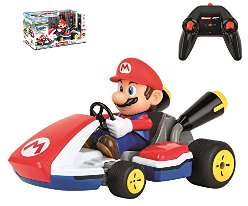 Carrera RC 162107 Official Licensed Mario Race Kart 1: 16 Scale 2.4 Ghz Splash Proof Remote Control Car Vehicle with Sound & Realistic Body Tilting Action - Rechargeable Battery - Kid Toys Boys/Girls