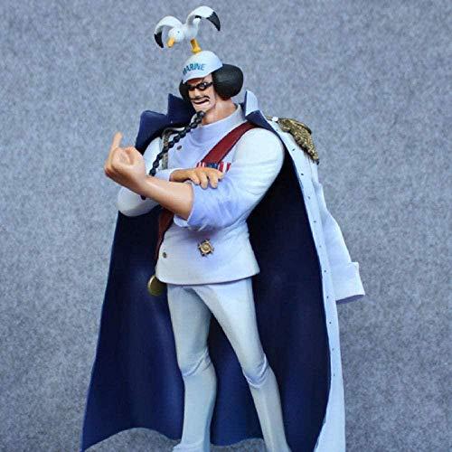Yooped Jouets D Animeanime Figuras de una Pieza Sengoku Maréchal Luffy Grand-Père Singe D Figura de acción Colección Vice-Amiral PVC Modèle Jouets 27 Cm