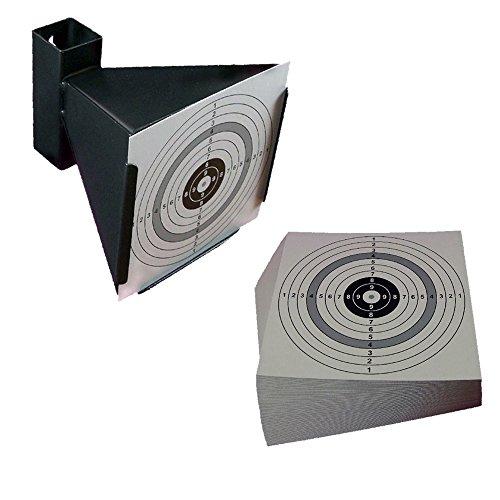 Kugelfang / Trichterkugelfang für Druckluftwaffen und 100 shoot-club Zielscheiben im Format 14x14 cm