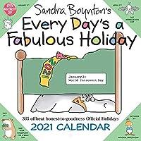 Sandra Boynton's Every Day's a Fabulous Holiday 2021 Calendar