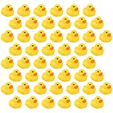 NC GTANG Mini Rubber Ducky Float Duck Baby Bath Toy Birthday Party Favors Decorations Baby Showerfor Kids Celebrate The Joy of The Children (50 Pack)