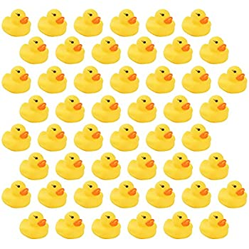 NC GTANG Mini Rubber Ducky Float Duck Baby Bath Toy Birthday Party Favors Decorations Baby Showerfor Kids Celebrate The Joy of The Children  50 Pack